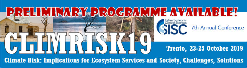 ClimRisk19 Preliminary programme available